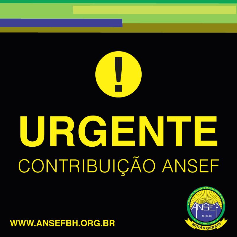 COMUNICADO IMPORTANTE - desconto contribuição Ansef/MG