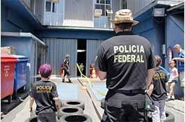 Crianças e Policiais Federais comemoram o Dia das Crianças com festa no pátio da PF/SR/MG