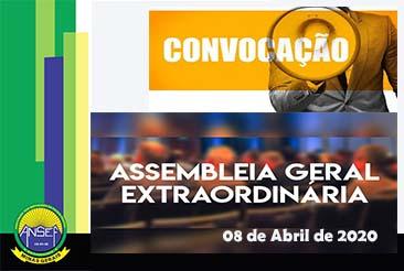 ASSEMBLEIA GERAL EXTRAORDINÁRIA - AGE - 08/04/2020
