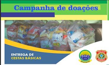 Entrega das Cestas Básicas adquiridas através de doações da Campanha.